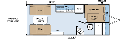 Sandpiper Rv Floor Plans by Xlr Hyperlite Travel Trailer Toy Haulers Floorplans By Forest