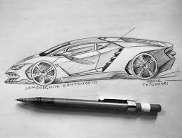 lamborghini car drawing cardesigndaily
