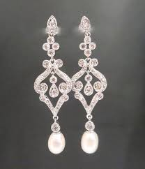 and pearl chandelier pearl bridal earrings wedding earrings earring