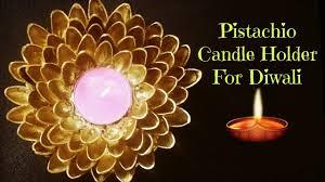 diwali decoration idea pistachio candle holder diwali candle