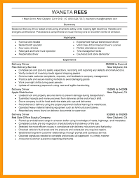 exle of a resume summary delivery driver resume sales skills resume exles delivery