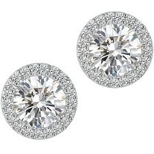 jewlery for black friday at target amazon com stud earrings fashion jewelry cubic zirconia halo