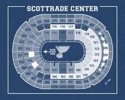 Home Decor St Louis Vintage New St Louis Blue Scottrade Center Arena On Photo Paper