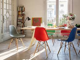 cheap red dining table and chairs buy the vitra dsw eames plastic side chair golden maple base at nest