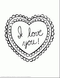 fabulous printable valentine hearts coloring pages with i love you