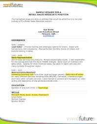retail associate resume sample resumedoc