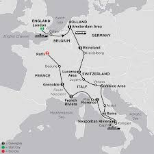 Map Of Germany And Italy by Central Europe Tour Cosmos Affordable Tour Packages