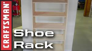 Simple Wood Storage Shelf Plans by Diy Shoe Storage How To Build A Shoe Rack Craftsman Youtube