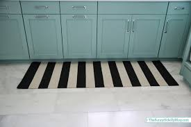 Black And White Striped Runner Rug Laundry Room Rugs The Side Up