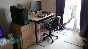 Two Desks In One Office Ikea Hack Two In One Pc U0026 Craft Desk 1 Creativity