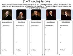 first five presidents founding fathers graphic organizer graphic organizers history
