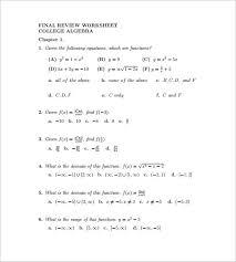 10 college algebra worksheet templates u2013 free word u0026 pdf