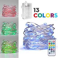 battery powered cl light fairydecor led string lights battery powered multi color changing
