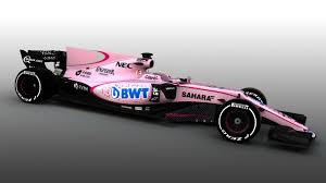 pink mercedes pretty in pink mercedes tease force india over shocking new