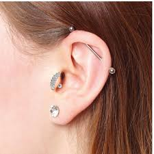 cartilage earrings bodyj4you clear cz tragus cartilage earring 16 jewelry