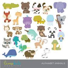 alphabet animals clipart mygrafico