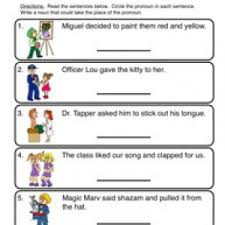 pronoun worksheets have fun teaching