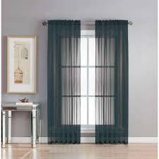 Black Sheer Curtains Sheer Black Curtains Drapes Window Treatments The Home Depot
