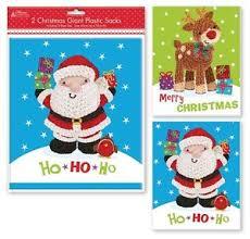 pack of 2 large plastic santa sacks gift bags ebay