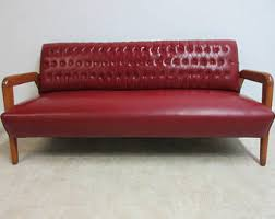 Couch Sofa Settee Mid Century Sofa Etsy