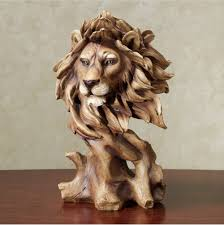 safari and african home decor touch of class lion bust sculpture