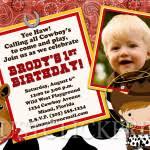 cowboy birthday invitations templates free invitations ideas