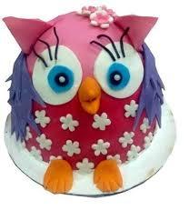 fondant cake 1 5kg pink owl fondant cake