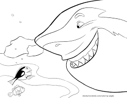 free coloring pages finding nemo shark 9384 bestofcoloring