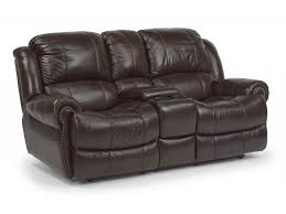 flexsteel living room leather power reclining loveseat with