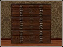 Map Drawers Cabinet Second Life Marketplace Re Old Wood Map Chest One Prim