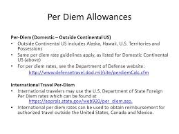 Massachusetts defense travel system images Per diem allowances effective december 1 2015 the daily per diem jpg