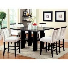 Counter Height Dining Room Furniture by Furniture Of America Lumina 7 Piece Light Up Counter Height Dining