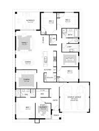 Single Storey Four Bedroom House Plan 4 Bedroom House Design Plans Indian Style Sq Ft One Story Bhk