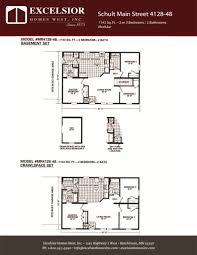 schult floor plans schult main street 4128 48