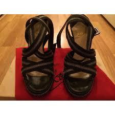 Images of Christian Louboutin Black Sandal Heels