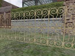 second marketplace brass color decorative metal fence or