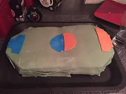 my best friend attempted to make me a rocket league birthday cake