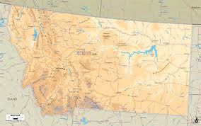 Blank Physical Map Of Russia by Physical Map Of Montana