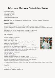 pharmacy technician resume template