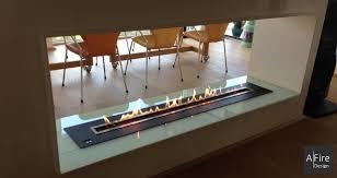 camino doppia faccia camino bifacciale con bruciatore a bioetanolo telecomandato integrato