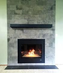 replacing tile around gas fireplace ceramic re wood burning
