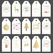 christmas gift tags stickers and labels hand drawn design for