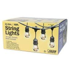 feit outdoor weatherproof string light set black 48