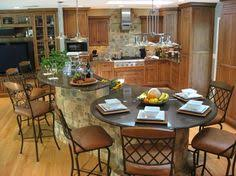 kitchen islands with tables attached kitchen island with attached seating design pictures remodel