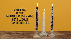 halloween candlestick holders how to make spooky spiderweb candles halloween decoration youtube