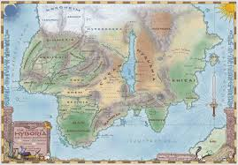 Discworld Map Conan The Barbarian Hyboria Maps Of Fictional Worlds