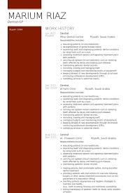 dentist resume samples visualcv resume samples database