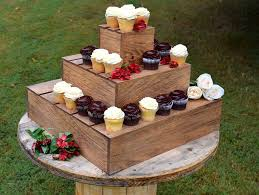 3 tier cupcake stand wood cupcake stand 3 tier cupcake holder weddings country