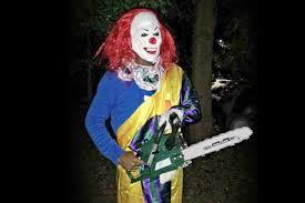 killer clown u0027 brandishing chainsaw sparks panic on brunel