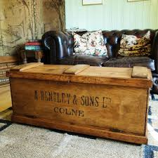 vintage tool chest storage trunk coffee table rustic industrial